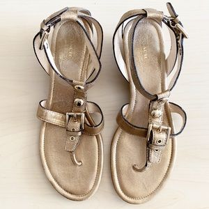 Coach | Viktoria Metallic Sandals